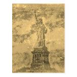 Estatua del vintage de la libertad Nueva York #2 - Postal