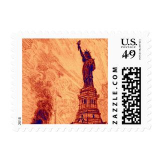 Estatua del vintage de New York City de la isla de Envio