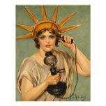 Estatua del vintage del anuncio patriótico de la g