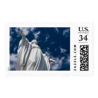 Estatua del Virgen María (Inmaculada Concepción) Estampillas