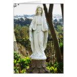 Estatua del Virgen María Tarjeta