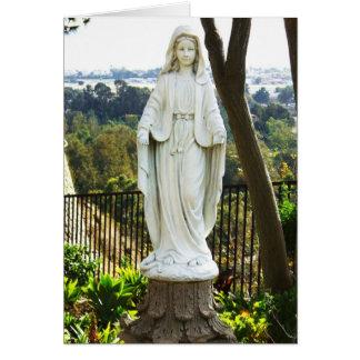 Estatua del Virgen María Tarjeta De Felicitación