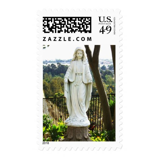 Estatua del Virgen María Timbre Postal