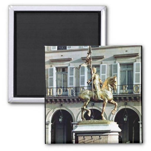 Estatua ecuestre de Juana de Arco Imanes Para Frigoríficos