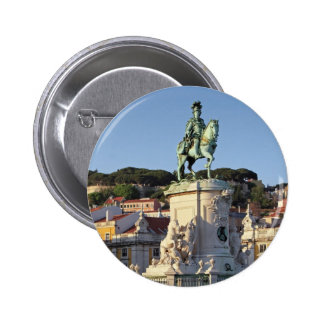 Estatua ecuestre de rey José I, Lisboa Pin Redondo De 2 Pulgadas