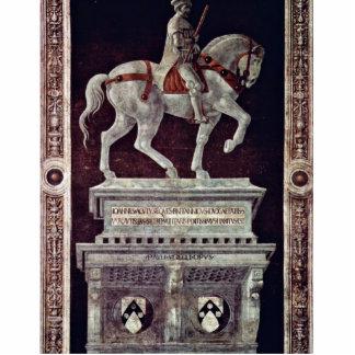 Estatua ecuestre pintada de Juan Acuto Escultura Fotográfica