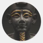 Estatua egipcia de Osiris Pegatina Redonda