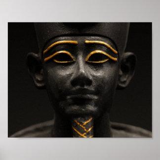 Estatua egipcia de Osiris Póster