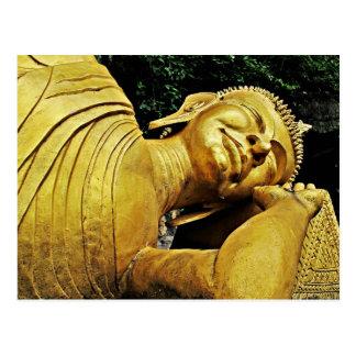 Estatua el dormir Buda Tarjeta Postal