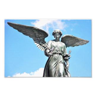 Estatua en Central Park, NY de la fuente de Fotografía