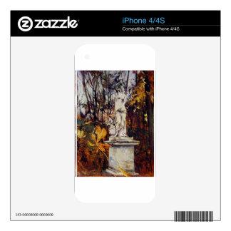 Estatua en el parque de Versalles de Juan Boldi Calcomanías Para iPhone 4S