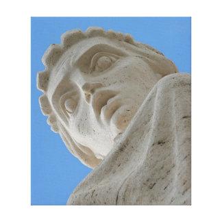 Estatua en lona impresión en lienzo