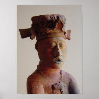 Estatua en Palenque Póster