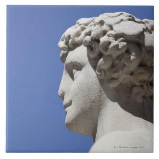 estatua erosionada fuera del Palazzo Vecchio adent Azulejo Cuadrado Grande