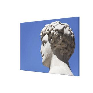 estatua erosionada fuera del Palazzo Vecchio adent Impresion De Lienzo