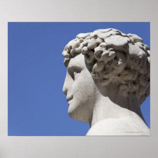estatua erosionada fuera del Palazzo Vecchio adent Póster