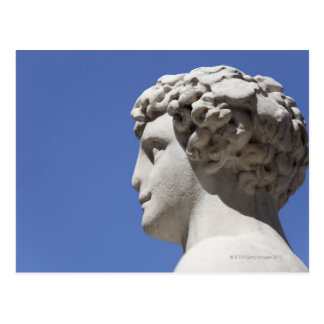 estatua erosionada fuera del Palazzo Vecchio Tarjeta Postal