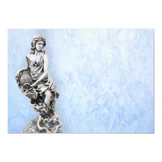 "Estatua femenina clásica invitación 5"" x 7"""