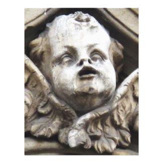 Estatua hermosa del ángel del Victorian del vintag Tarjeta Publicitaria
