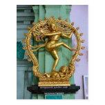 Estatua hindú del templo hindú de Chettiar Tarjetas Postales