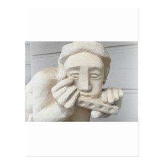 Estatua imponente del vintage de la isla del postal