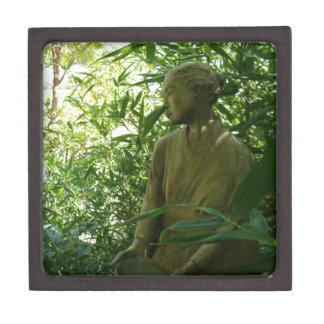 Estatua japonesa del jardín cajas de recuerdo de calidad