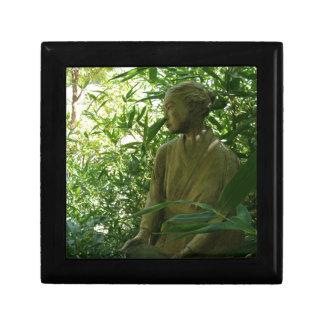 Estatua japonesa del jardín cajas de joyas