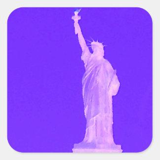 Estatua libertad América los E E U U del 4 de jul Calcomanía Cuadradas Personalizada