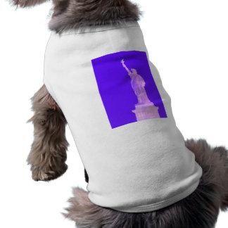 Estatua libertad América los E E U U del 4 de jul Camisa De Perrito