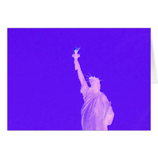 Estatua libertad los E E U U América del 4 de jul Felicitacion