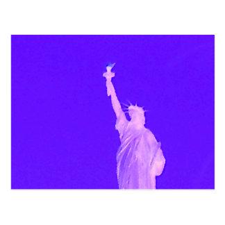 Estatua libertad los E E U U América del 4 de jul Tarjeta Postal