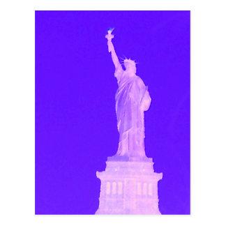 Estatua libertad los E.E.U.U. América del 4 de Postal