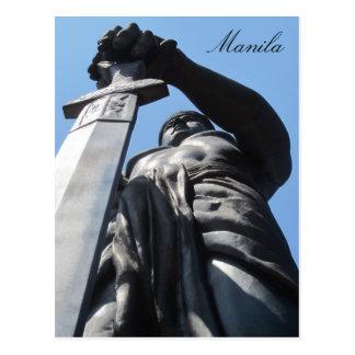 estatua Manila de la espada Tarjeta Postal