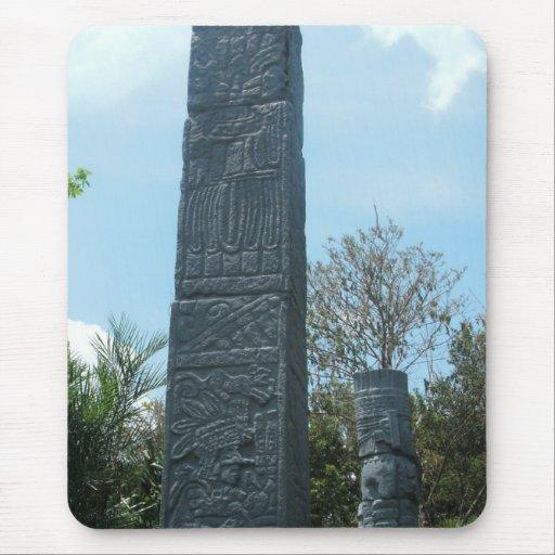 Estatua maya Mousepad de la torre Alfombrilla De Ratones