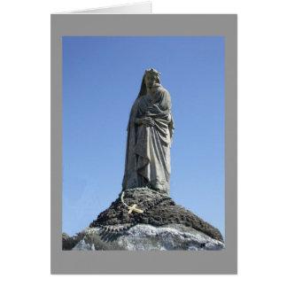estatua moldeada tarjeta de felicitación