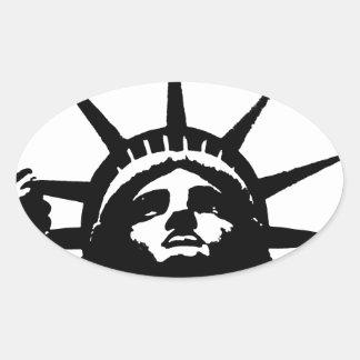 Estatua negra y blanca de arte pop del pegatina de