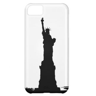 Estatua negra y blanca de la silueta de la carcasa iPhone 5C