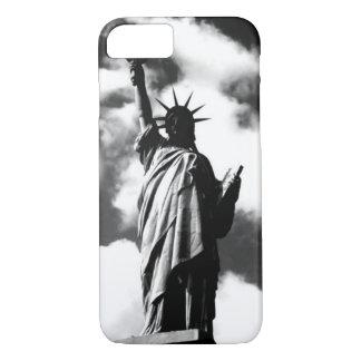 Estatua negra y blanca del caso del iPhone 7 de la Funda iPhone 7