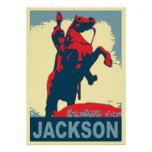 Estatua New Orleans de Andrew Jackson Posters