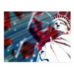 Estatua patriótica de los E.E.U.U. del diseño de Postal
