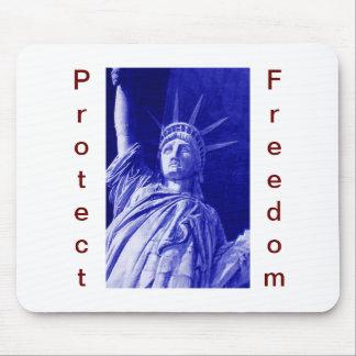 Estatua patriótica del cojín de ratón de la libert tapete de raton