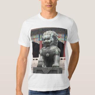 Estatua prohibida del perro de Foo del chino del Remeras