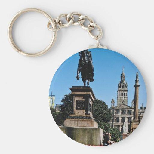 Estatua roja de la calle y de la reina Victoria de Llavero Redondo Tipo Pin
