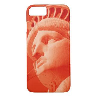 Estatua roja del caso del iPhone 7 de Barely There Funda iPhone 7