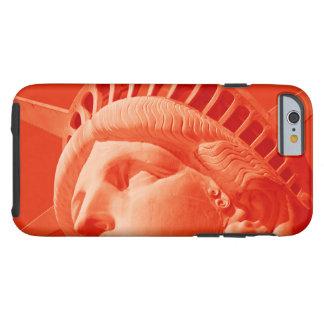 Estatua roja del caso duro del iPhone 6 de la Funda Resistente iPhone 6