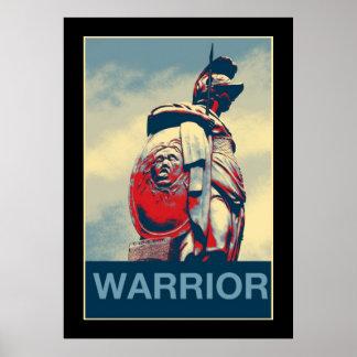Estatua romana del gladiador del guerrero póster