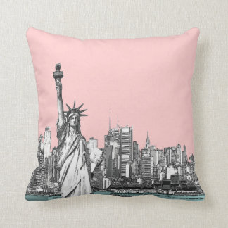 Estatua rosada de las almohadas de tiro de Nueva Y