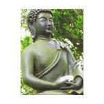 Estatua serena hermosa de Buda Impresión De Lienzo