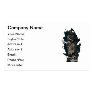 Estatua serena llevada tiempo en cementerio tarjetas de visita