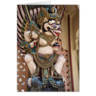 Estatua sonriente de Garuda Tarjetón